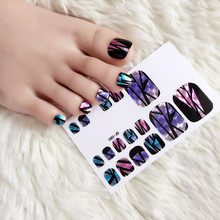 22pcs/sheet Star Glass Paper Toe Stickers & Decal Broken cellophane Hot Toe Star Stickers Decal for Toe Nail Art