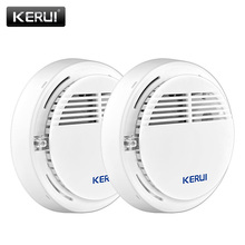 KERUI 2ps Wireless Alarm Security Smoke Fire Detector/Sensor For Home House Office GSM SMS Alarm Systems