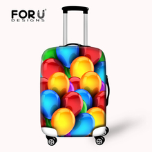 Creative Printing Organ Candy Color Protective Waterproof Luggage Cover for Travel 18-30 inch Trolley Suitcase Dust Rain Cover(China)