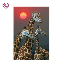 ANGEL'S HAND 5D diamond pattern diy giraffe diamond painting full round diy diamond painting diamond embroidery canvas kits