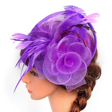 Hot Sale Women Pretty Fascinator Hat Headbands Cocktail Wedding Church Headpiece 2017 New(China)