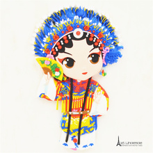 Free shipping China Peking Opera Traditonal Oriental Fridge Magnets Rubber Tourist Souvenir home decoration party supply gifts(China)