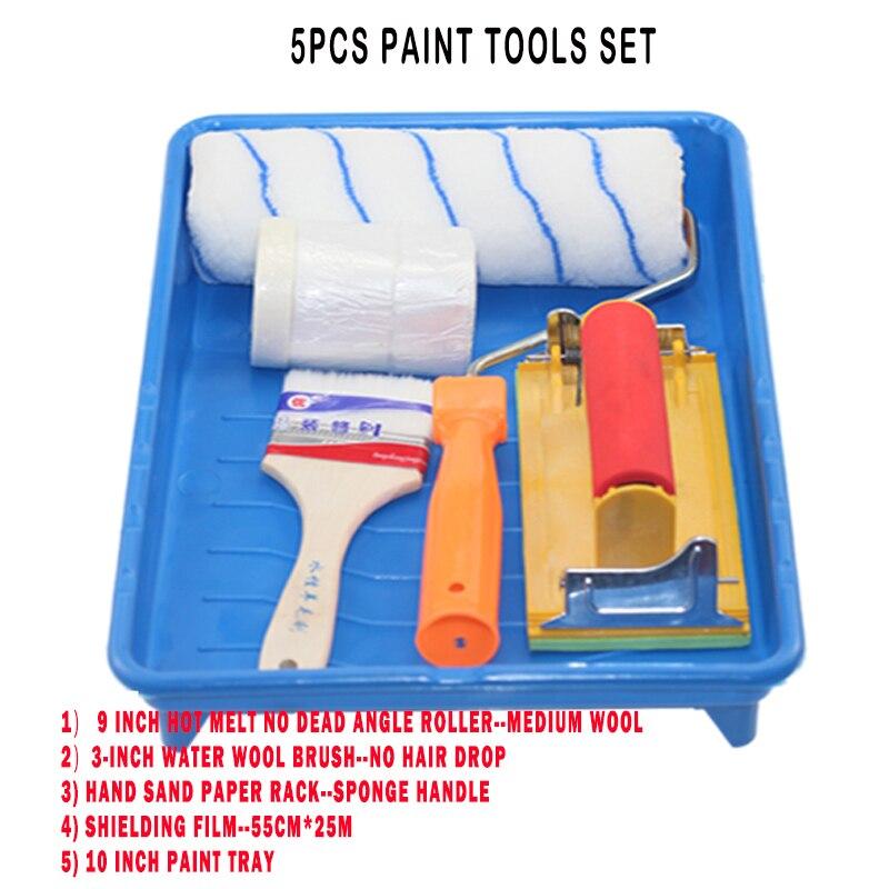 Set de 5/rodillos de espuma esponja pintura Art Craft cepillo de pintura de pared