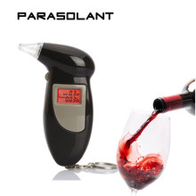PARASOLANT Digital LCD Backlit Display Breathalyzer Audible Alert Breath Alcohol Tester Box Parking Gadget Analyzer alcoholomete(China)