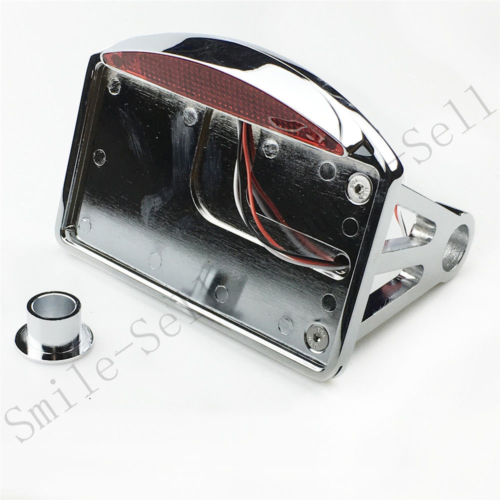 Motorcycle accessories Side Mount License Plate Bracket Tail Light Frame For Harley Axle Custom Softail <br>