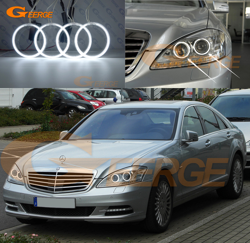 For Mercedes Benz W221 S Class S350 S400 S500 S550 S600 S63 S65 AMG Excellent Ultra bright illumination CCFL Angel Eyes kit<br>