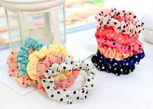 1 pcs 2017 New Arrival  Cute Sweet Girl Elastic Hair Band Ponytail Holder Accessories Headwear Color Randomly free shipping