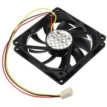 universal DC 12V Efficient 3 Wire Pin 80x80x15mm Standard Super Wind Mute Cooling Cooler PC Computer Case CPU Fan Airflow Cable