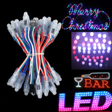WS2811 RGB Full-color LED Pixel module string 100pcs two string DC5V IP68 waterproof LED Advertising Letter Chain Lamp