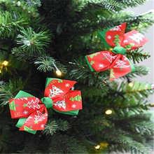 3PC/Set DIY Bows Christmas Tree Toppers Shopwindow Display Shope Decor Gift Box Packing Decoration Shopping Gift Bags Suppliers(China)