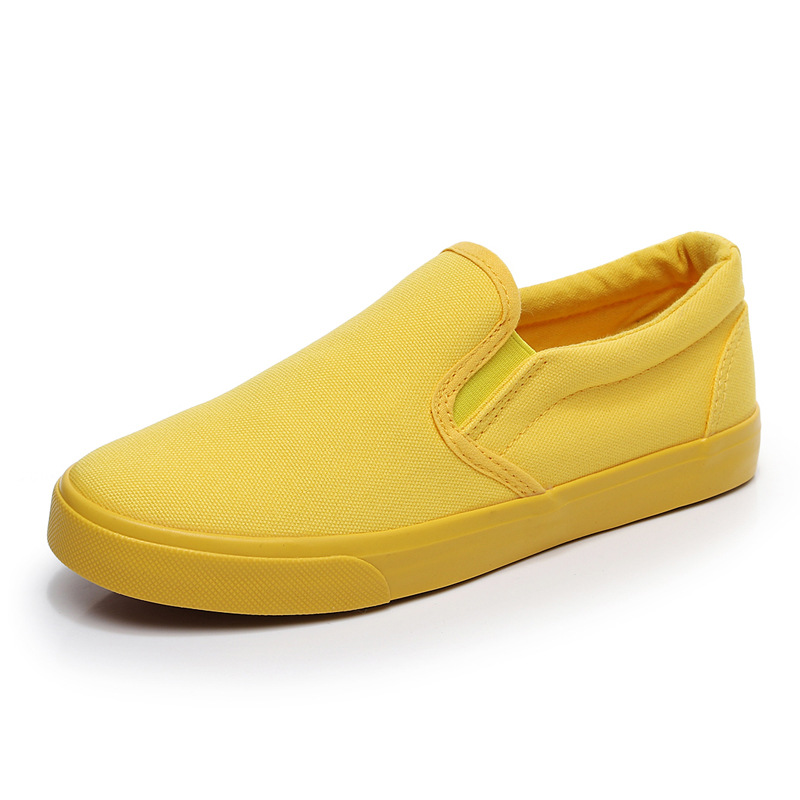 Women Vulcanize spring auntum Shoes Summer Breathable fashion Trainers Casual Shoes Cheap yellow Canvas Platform Shoes Sneakers (13)