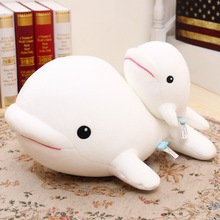 40cm x 30cm x 20cm Dolphin Lovely Chicken Colorful Plush Toys Birthday Chick Stuffed Doll White whale Gift Stuffing Toy C37
