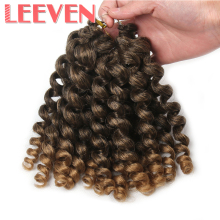 Leeven 8'' 20strands Jumpy Wand Curl Jamaican Bounce Synthetic Braiding Hair Extension Crochet Braid Kanekalon For Black Woman(China)
