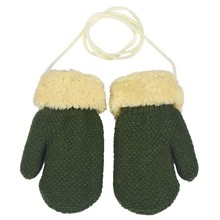Unisex Winter Warm Kids Gloves Wool Knitted Child Covered Fingers Mittens Glove