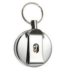 2017 High Resilience Steel Keychain Wire Rope Chain Recoil Metal Retractable Alarm Anti Lost Badge Reel Belt Clip