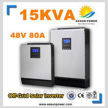 Solar Inverter 15Kva 15KW Off Grid Inverter 48V 220V 380V 80A MPPT Inverters Pure Sine Wave Hybrid Inverter 60A Battery Charger
