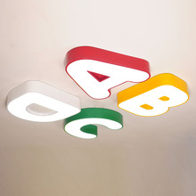 Children LED lamp cute Ceiling Lights alphabet lamp Childrens room boy bedroom warm romantic nursery top lamp lamps