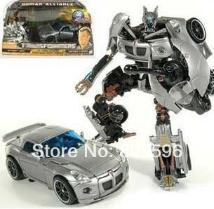 New Robot Jazz sports car+motorcycle+man Revenge of the Fallen Human Alliance  Action Figures drop shipping<br><br>Aliexpress
