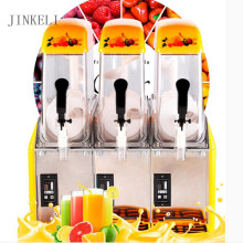 commercial snow mud machine 3 tnaks 220v automatic ice sand machine self - service beverage machine cold drinking juice machine(China)