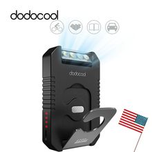 dodocool Travel Hiking Powerbank 4200mAh Portable Solar Charger Battery Power Bank with 4 LED Flashlight External Battery Pack(China)