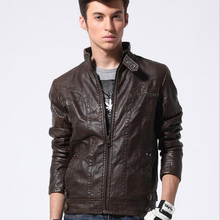 Buy 2018 Men's Fashion Winter PU Leather Thick Fleece Liner Jacket Male Slim Leather Motocycle Cool Design Coat Stand Collar Zipper for $58.74 in AliExpress store