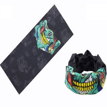 Outdoor Sports Cycling Riding Seamless Bandanas Magic Headband Turbans Neck Hood Warmer Half Face Mask Union Jack US Flag Bone(China)