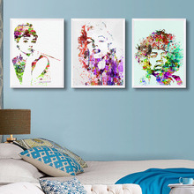 BOB-Audrey Hepburn Marilyn Monroe - Minimalist Art Canvas Poster Print Music Star Picture for Modern Home Wall Decor 046