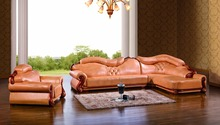 European leather sofa set living room sofa made in China arm chair corner sofa