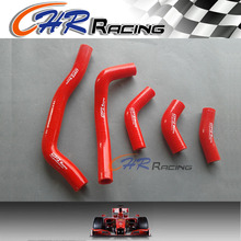 RED 5PCS silicone radiator hose kit For HONDA CRF450R CRF 450R 2006 2007 2008