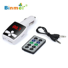 Hot ! gift car-styling MP3 Player Wireless FM Transmitter Modulator Car Kit USB SD MMC LCD Remote TOP QUALITY DEC23