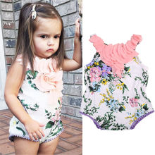 Floral Summer Baby Girls Rompoer Newborn Baby Girls Floral Petal Romper One-piece Body suit Jumpsuit Outfits Sunsuit 0-24M(China)