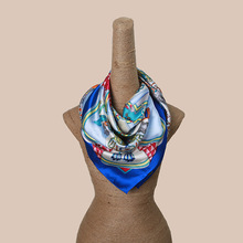 New arrival bell printed silk scarf big size 100% real silk shawl colorful luxurious brand silk wraps(China)
