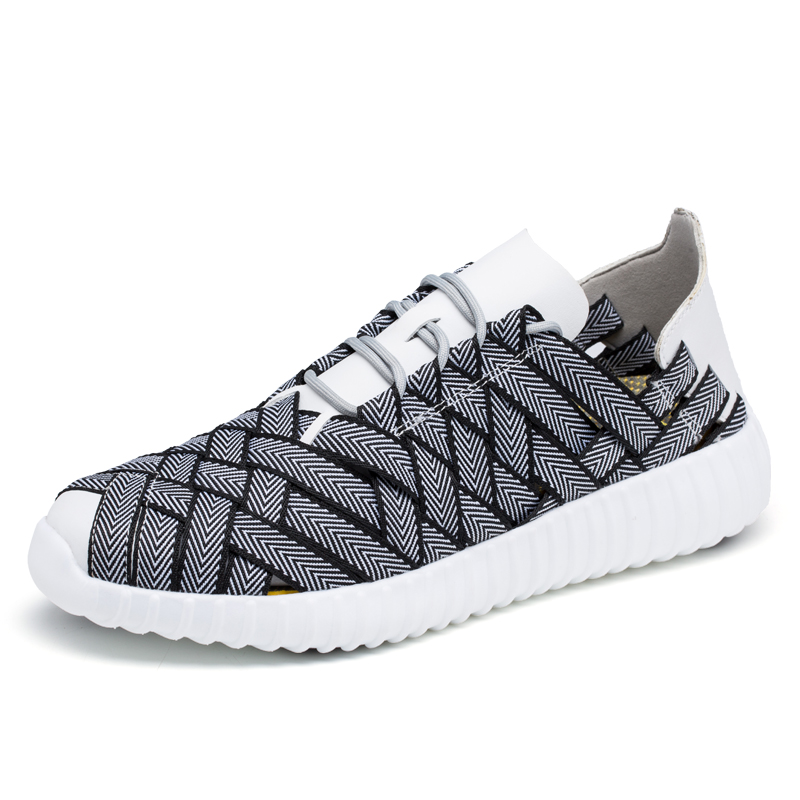 Woven Men Canvas Shoes  Breathable Men Casual Shoes Sneake Men Casual Lace Up Black Grey Brown<br><br>Aliexpress