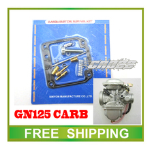 125cc motorcycle gn125 gs125 keihin carburetor kits repair tools gasket jet gasket idle valve needle accessories free shipping(China)