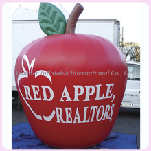 Promotional items giant inflatable apple,inflatable red apple free logo