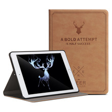 For 2017 New iPad 9.7 Retro Deer Pattern PU Leather Tablet Cover Case Capa Para forNew iPad 2017 Model A1822 +Film +Pen(China)
