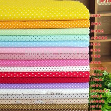 19PCS 45*45cm Small Dot Series Cotton Fabric Quarter Bundle Telas DIY Patchwork Quilting Doll Sewing Baby Textile Bedding Tecido