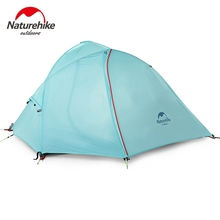 Naturehike Silicone 1-2 Person Double Layers Tent NH Outdoor One Bedroom Camping Tent With Mat 2 Colors 3 Seasons(China)