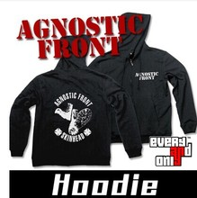 Agnostic Front Band Skinhead sweatshirt long-sleeve zipper with a hood sweatshirt 3 style