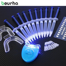 Beurha Dental Care Equipment Teeth Whitening Lamp 44% Peroxide Dental Bleaching Oral Hygiene Low Sensitivity Gel Kit Tooth White