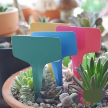 2017 Rushed 500pcs Colorful Waterproof Strip Line Plant Labels Signs Hanging Tags with Pencil for Gift Best Wholesales
