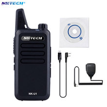 Mini Walkie Talkie NKTECH NK-U1 UHF 400-470MHz 5W 16 Channels Handheld Ham Transceiver Two-way Radio +Cable+mic(China)