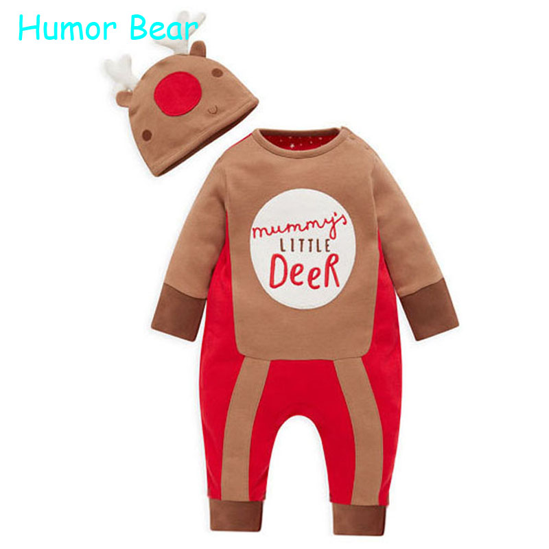 Humor Bear New Year Christmas Childrens Clothing Baby Clothes Newborn Jumpsuit Girls Boys Clothes Baby Rompers Infant Garment<br><br>Aliexpress