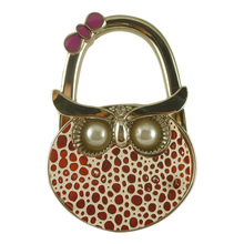 Lovely Owl Folding Hook Bag Hanger Holder Foldable For Handbag Bag Purse Clothing Accessories