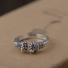 FNJ 925 Silver Fist Ring Boxing Hand Original S925 Sterling Thai Silver Rings for Women Jewelry Adjustable Size(China)