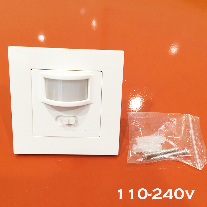 Newest  Wall mounted pir motion sensor light switch 9m max induction distance 110-240V/AC infrared sensor 86-type switch 1pc<br><br>Aliexpress