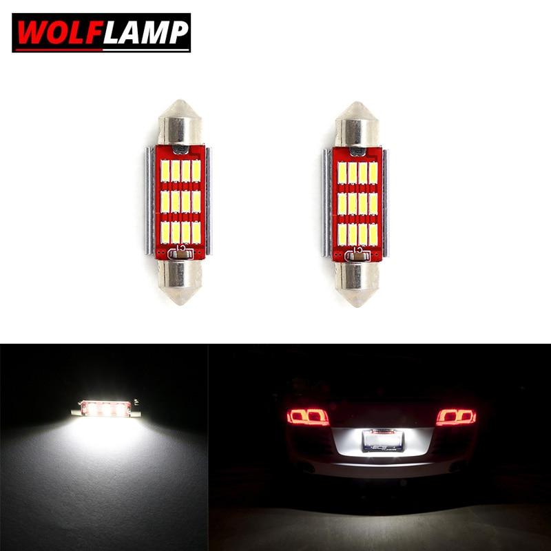 2Pcs XENON White LED Side Light 18-SMD Bulbs Canbus For Audi A3 S3 A4 A6 Q7 TT