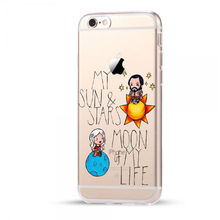 Game Of Thrones Daenerys Khal Drogo Phone Cases Cover For iPhone 7 7Plus For iPhone 5 5S SE 6 6S Plus Transparent Hard PC Case