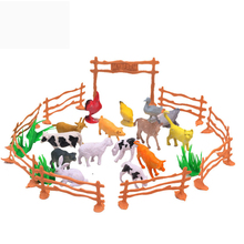 5cm 12-15PCS Simulation Poultry animals dog sheep pig chicken cat model doll Animal Figure dinosaur doll Pet toys Farm park toys
