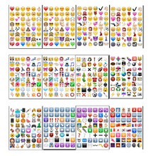 10 sheets/lot IOS Classic /face/QQ New Emoji stickers (48 Die Cut ) sticker for notebook fun message Vinyl funny creative gift